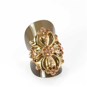 Bague Strass réglable Full Strass GOLD Vintage Collection 68032