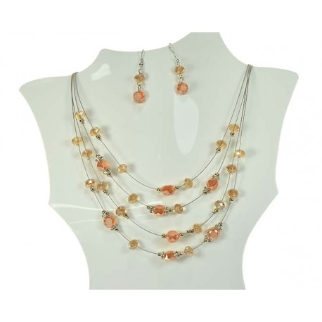 Adornment Collier Suspension 4 Rank 59947 Beads