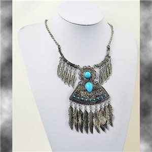 ATHENA necklace engraved silver metal Ethnic New Collection 2017 69767