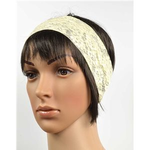 polyester hair band fashion embroidery width 7cm 70725