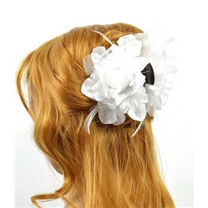 Clip crab Hair Feathers Fashion 8cm and 13cm Rose Flower 70607