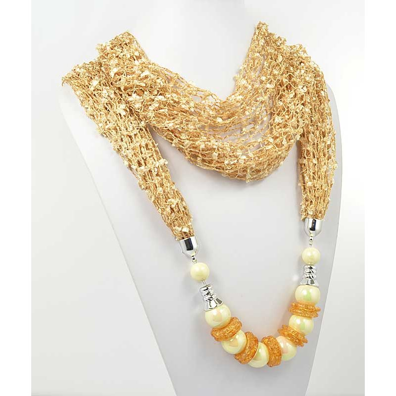polyester scarf jewelry necklace new collection 2017 70930 - 3W IMPORT