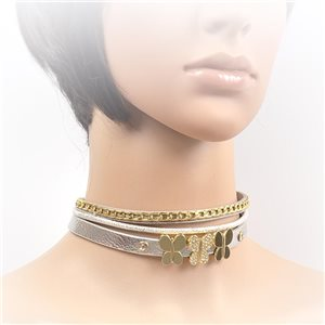 Collier ras de cou Chic et Strass New Collection Choker L32-40cm 71692