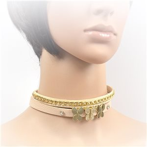 Collier ras de cou Chic et Strass New Collection Choker L32-40cm 71694