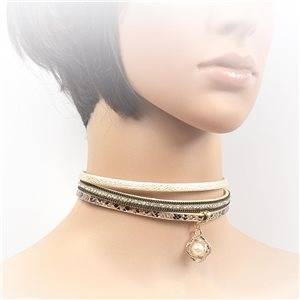 Collier ras de cou Chic et Strass New Collection Choker L32-40cm 71724