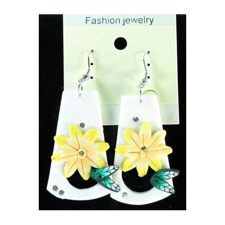 1p Earrings in polymer and Strass 45174