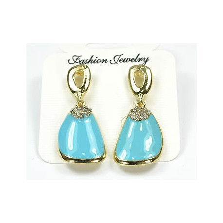 Earrings and Strass Enamels Collection Arc en Ciel 52110