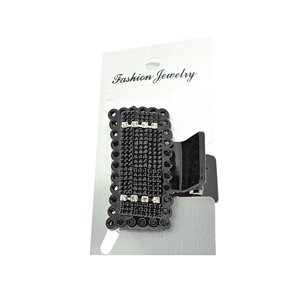 New Collection Black & Strass Hair Clip L5.5cm 71954