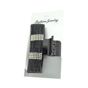 New Collection Black & Strass L8cm Hair Clip 71951