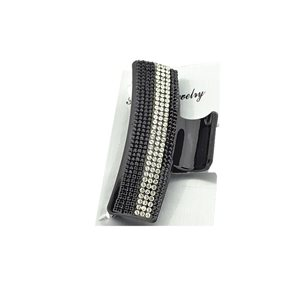 New Collection Black & Strass L8cm Hair Clip 71948