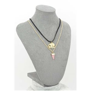 Necklace Natural Stone Collection Chic 2017 L42-48cm 71767