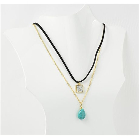 Necklace Natural Stone Collection Chic 2017 L42-48cm 71769