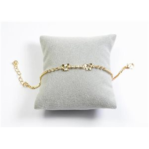 Bracelet Strass Chic L19-23cm Collection métal doré 65896