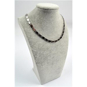 Collier Chaine en Acier inoxydable L50cm Steel Color New Collection 72757