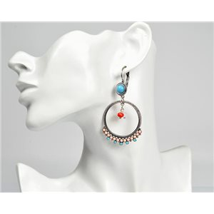 1p Boucles Oreilles ATHENA New Collection Ethnique 72816