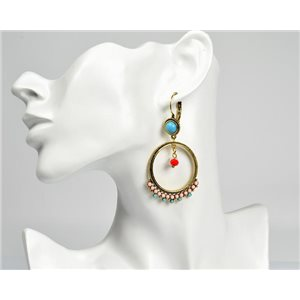 1p Boucles Oreilles ATHENA New Collection Ethnique 72817