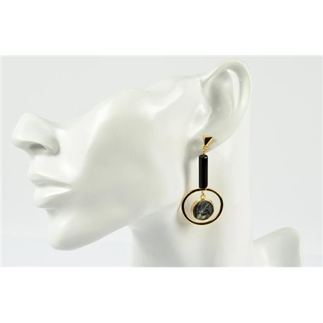 1p Earrings Ear Studs Metal Color Gold Collection Graphika 73204