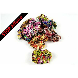 Lot de 12 Chouchou Effet Satin 6 coloris multicolor New Fashion 10cm 73268