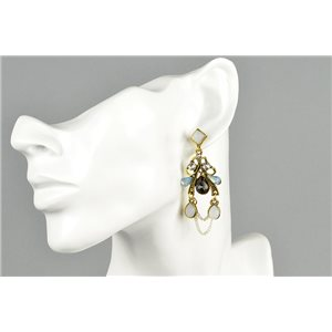 1p Earrings Earrings with Clou set with Strass Collection ATHENA Les Estivales 73427