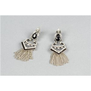 1p Earrings Earrings with Clou set with Strass Collection ATHENA Les Estivales 73428