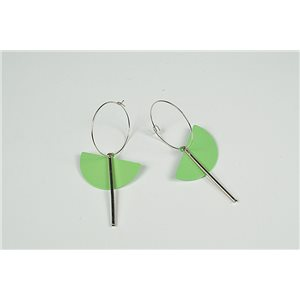 1p Earrings Earrings Nail metal color Silver Collection Graphika 73467