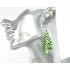 1p Ears Mesh Earrings Disco 64547