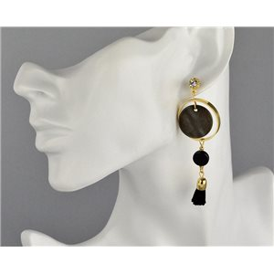 1p Boucles Oreilles Pendantes à clou Collection Graphika 2018 73832