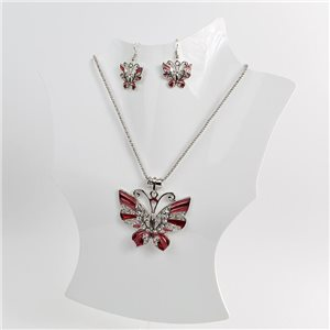Necklace VISAGE enamels and rhinestone New Collection 2018 Winter Color 75008
