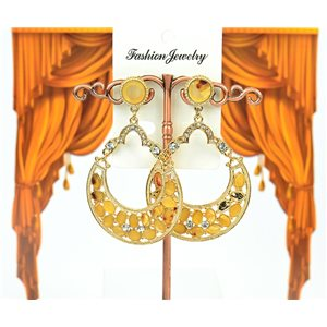 1p Boucles Oreilles à clou sertie de Strass Collection ATHENA 7cm 75213
