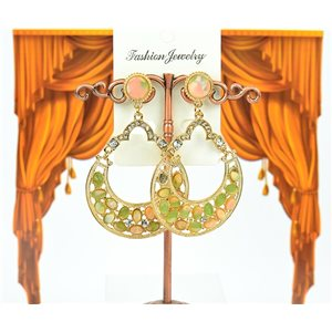 1p earrings studded with Rhinestones Collection ATHENA 7cm 75214