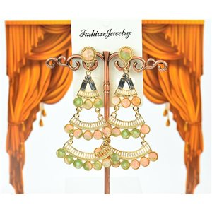 1p earrings studded with Rhinestones Collection ATHENA 8cm 75218