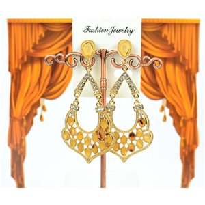 1p Earrings with nail set with Rhinestone Collection ATHENA 8cm 75219