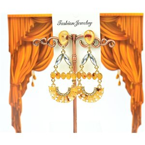 1p earrings studded with Rhinestones Collection ATHENA 7cm 75221