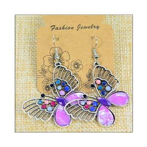 1p Earrings ATHENA silver plated metal set with Rhinestones New Ethnic Collection 75508
