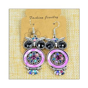 1p Earrings ATHENA silver plated metal set with Rhinestones New Ethnic Collection 75517
