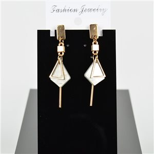 1p Earring Drop Earrings 6cm Metal Gold Color New Graphika Style 75702