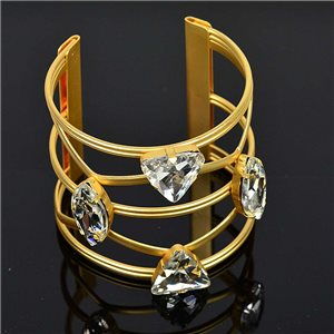 Bracelet TorK Claw Rhinestone Metal Gold Color Fashion Chic L60mm New Collection 75584