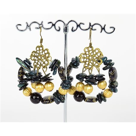 1p Earrings Ears Nacre and Shells Fashion Spring Summer 75756