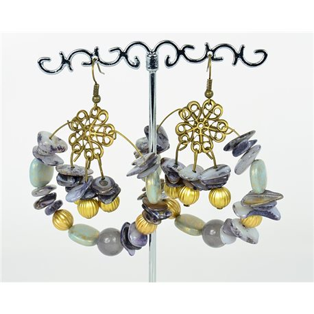 1p Earrings Ears Nacre and Shells Fashion Spring Summer 75758