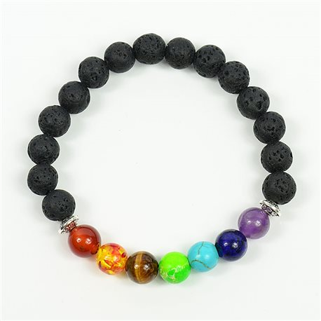 Bracelet Porte Bonheur 7 Chakras en Pierres naturelles New Collection 75779