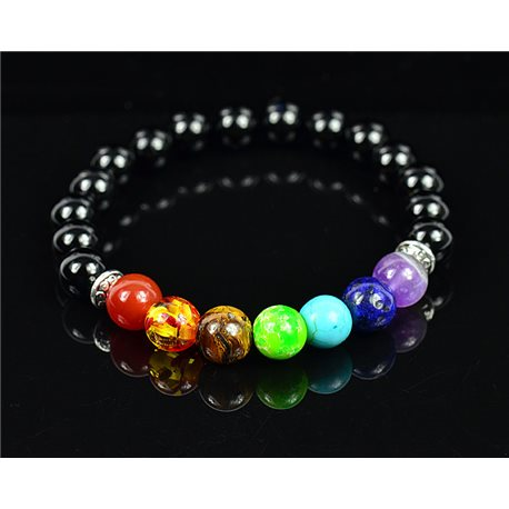 Bracelet Porte Bonheur 7 Chakras en Pierre naturelle New Collection 75780