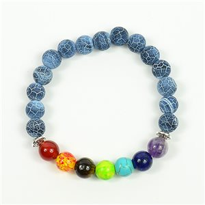 Charm Bracelet 7 Chakras Natural Stone New Collection 75782
