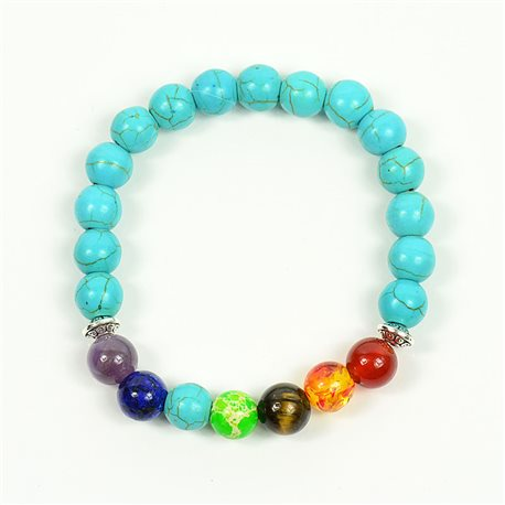 Charm Bracelet 7 Chakras Natural Stone New Collection 75783
