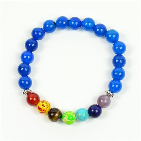 Charm Bracelet 7 Chakras Natural Stone New Collection 75785