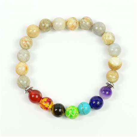 Bracelet Porte Bonheur 7 Chakras en Pierres naturelles New Collection 75790