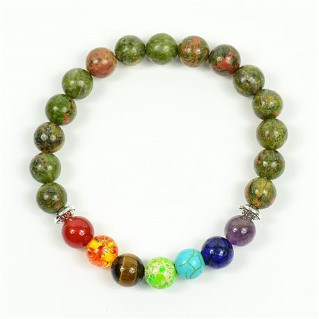 Charm Bracelet 7 Chakras Natural Stone New Collection 75791