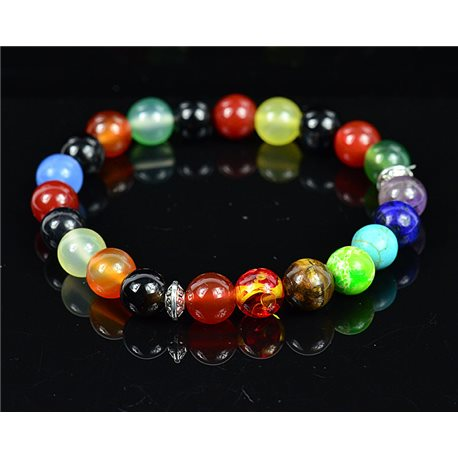 Charm Bracelet 7 Chakras Natural Stone New Collection 75792