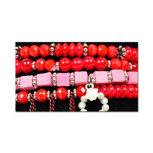 Bracelet CYBELE Manchette 4 rangs Collection Bead Charms et Bijoux sur fil élastic New Collection 75996