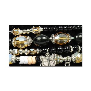 Bracelet CYBELE Cuff 4 Ranks Collection Bead Charms and Jewelry on Elastic Wire New Collection 75997