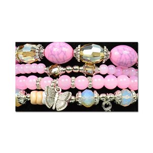 Bracelet CYBELE Manchette 4 rangs Collection Bead Charms et Bijoux sur fil élastic New Collection 75998